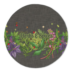 Herbs & Spices Round Linen Placemat