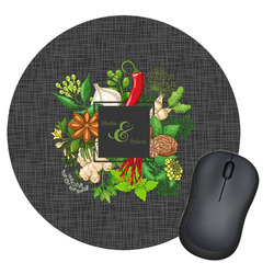 Herbs & Spices Round Mouse Pad (Personalized)