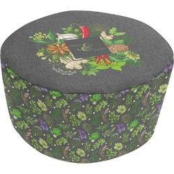Herbs & Spices Round Pouf Ottoman (Personalized)