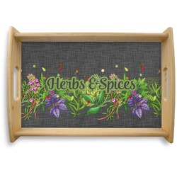 Herbs & Spices Natural Wooden Tray (Personalized)