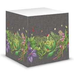 Herbs & Spices Sticky Note Cube (Personalized)