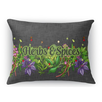 Herbs & Spices Rectangular Throw Pillow Case (Personalized)