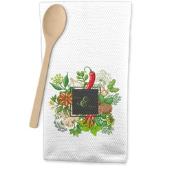 Herbs & Spices Waffle Weave Kitchen Towel (Personalized)