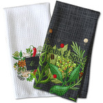 Herbs & Spices Waffle Weave Kitchen Towel