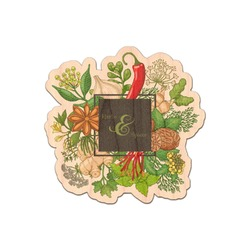 Herbs & Spices Genuine Wood Sticker (Personalized)