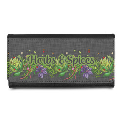 Herbs & Spices Leatherette Ladies Wallet (Personalized)