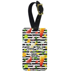 Cocktails Aluminum Luggage Tag (Personalized)