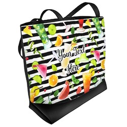 Cocktails Beach Tote Bag (Personalized)