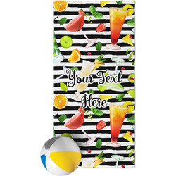 Cocktails Beach Towel (Personalized)