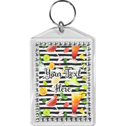 Cocktails Bling Keychain (Personalized)