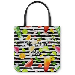 Cocktails Canvas Tote Bag (Personalized)