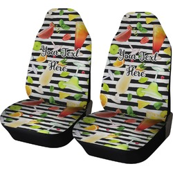 Cocktails Car Seat Covers (Set of Two) (Personalized)