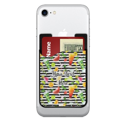 Cocktails 2-in-1 Cell Phone Credit Card Holder & Screen Cleaner (Personalized)