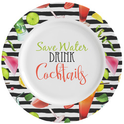 Cocktails Ceramic Dinner Plates (Set of 4) (Personalized)