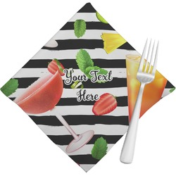 Cocktails Cloth Napkins (Set of 4) (Personalized)