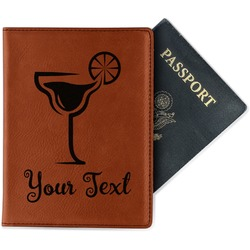 Cocktails Leatherette Passport Holder (Personalized)