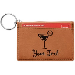 Cocktails Leatherette Keychain ID Holder (Personalized)