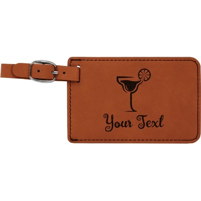 Cocktails Leatherette Luggage Tag (Personalized)