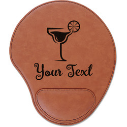 Cocktails Leatherette Mouse Pad with Wrist Support (Personalized)