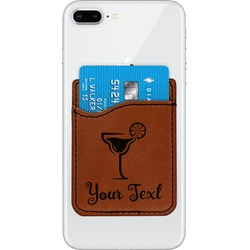 Cocktails Leatherette Phone Wallet (Personalized)
