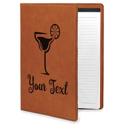 Cocktails Leatherette Portfolio with Notepad (Personalized)