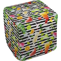 Cocktails Cube Pouf Ottoman (Personalized)