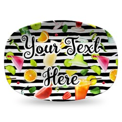 Cocktails Plastic Platter - Microwave & Oven Safe Composite Polymer (Personalized)