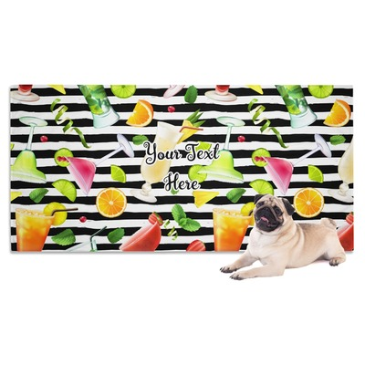 Cocktails Dog Towel (Personalized)