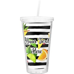 Cocktails Double Wall Tumbler with Straw (Personalized)