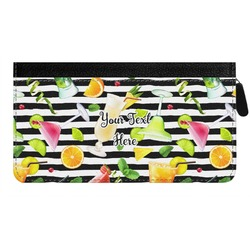 Cocktails Genuine Leather Ladies Zippered Wallet (Personalized)