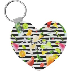 Cocktails Heart Keychain (Personalized)
