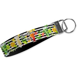 Cocktails Wristlet Webbing Keychain Fob (Personalized)