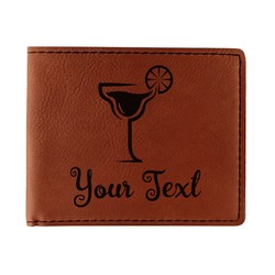 Cocktails Leatherette Bifold Wallet - Double Sided (Personalized)