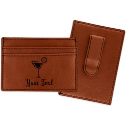 Cocktails Leatherette Wallet with Money Clip (Personalized)