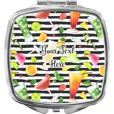 Cocktails Compact Makeup Mirror (Personalized)