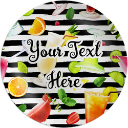 "Cocktails Melamine Plate - 8"" (Personalized)"