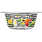 Cocktails Stainless Steel Dog Bowl (Personalized)