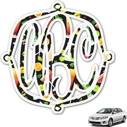 Cocktails Monogram Car Decal (Personalized)