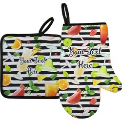 Cocktails Oven Mitt & Pot Holder (Personalized)