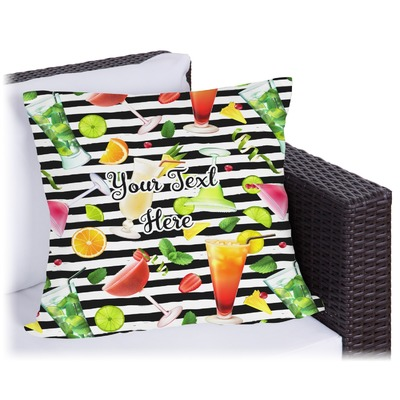 Cocktails Outdoor Pillow (Personalized)