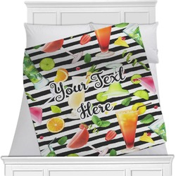 "Cocktails Fleece Blanket - Twin / Full - 80""x60"" - Double Sided (Personalized)"