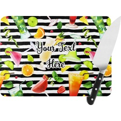 Cocktails Rectangular Glass Cutting Board (Personalized)