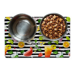 Cocktails Dog Food Mat (Personalized)