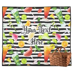 Cocktails Outdoor Picnic Blanket (Personalized)