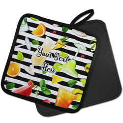 Cocktails Pot Holder w/ Name or Text