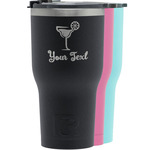 Cocktails RTIC Tumbler - Black (Personalized)