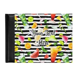Cocktails Genuine Leather Guest Book (Personalized)