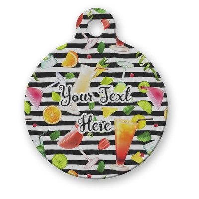 Cocktails Round Pet Tag (Personalized)