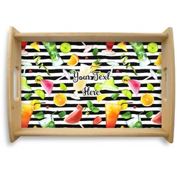 Cocktails Natural Wooden Tray (Personalized)
