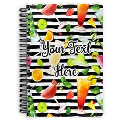 Cocktails Spiral Bound Notebook (Personalized)